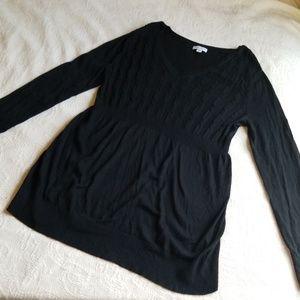· Liz Lange XXL Black Cable Knit Sweater ·
